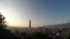 Taipei 101 from Elephant Mountain,Taiwan -Dan Stock Footage