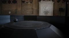 Foucault pendulum Stock Footage