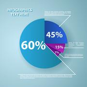 Business pie chart for documents and reports Stock Illustration