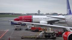 Copenhagen airport, denmark Stock Footage