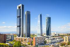 madrid, spain financial district - stock photo