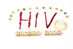 HIV AIDS diagnosis as Cut Stock Photos
