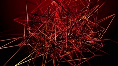 Abstract lines on a red background - stock footage