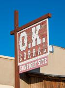 OK Corral Sign Tombstone - stock photo