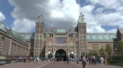 The Rijksmuseum, Amsterdam, Netherlands. Stock Footage