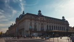 Establishing shot of the museum orsay in Paris. tilting down Stock Footage