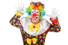 Funny clown isolated on white Kuvituskuvat