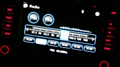 Car radio display Stock Footage