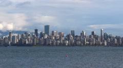 Modern City Skyline - Vancouver - 01 Stock Footage