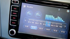 Car radio display - stock footage