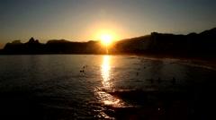 Rio de Janeiro Sunset Stock Footage