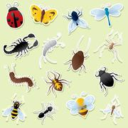 Creepy crawly cutouts Stock Illustration