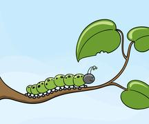 Crunch the caterpillar Stock Illustration