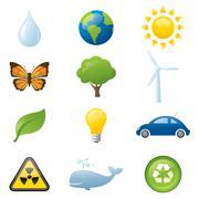 Environmental elements Stock Illustration