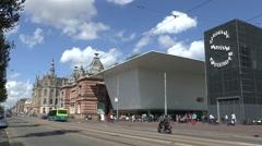 Stedelijk Museum, Van Baerlestraat, Amsterdam, Netherlands. - stock footage