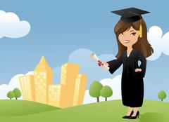 Just graduated Stock Illustration