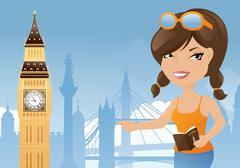 london sightseeing - stock illustration