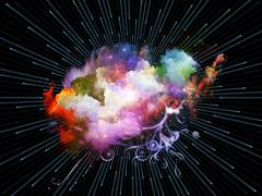 Conceptual Color Burst Stock Illustration