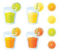 vitamin cs - stock illustration