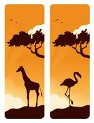 african moments - stock illustration