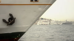 Close up of a ferry prow in Istanbul  Stock Footage