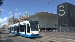 No 3 tram, Van Baerlestraat, Amsterdam, Netherlands. Stock Footage