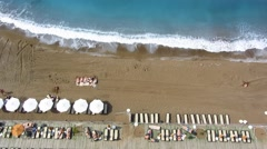 Stock Video Footage of beach aerial view.