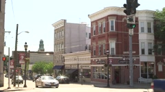 Main Street on a Sunny Day in Harrison Stock Footage