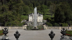 Linderhof Palace beautiful fountain garden Bavaria Germany 4K 025 Stock Footage
