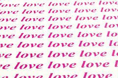 Beautiful background of love word Stock Photos