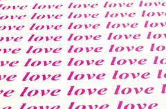 beautiful background of love word - stock photo