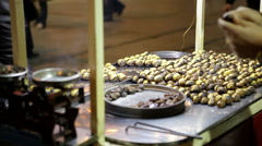 Roasting chestnuts, istanbul Stock Footage