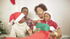 Family together assembling gift - stock footage
