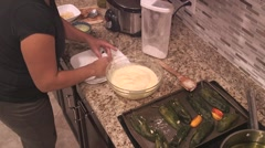 Making mexican food 05 Stock Footage