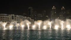 Dubai fountain music show. - stock footage