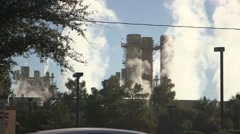 power station, steam generation 05 - stock footage