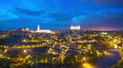 Toledo, Spain Cityscape Stock Footage