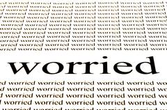 conceptual background of worried situation - stock photo