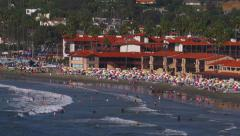 People enjoy beach activities at La Jolla Shores - Editorial Stock Footage