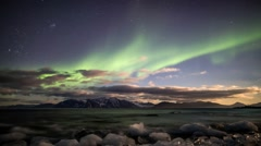 Solar Storm over the Arctic - Beautiful Aurora Borealis / Northern Lights - stock footage