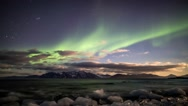 Stock Video Footage of Solar Storm over the Arctic - Beautiful Aurora Borealis / Northern Lights
