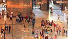 Interior of Hagia Sophia from the second floor Stock Footage