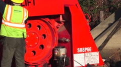 Heavy Equipment Construction, crane repair Stock Footage