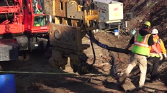 Heavy Equipment Construction, men and machinery Stock Footage