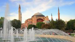 Hagia Sophia, Istanbul, Turkey. Zoom in Stock Footage