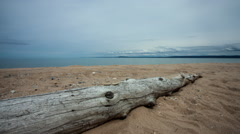 Michigan Beach Motion Time-lapse Stock Footage