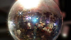 Stock Video Footage of Mirrored disco ball.