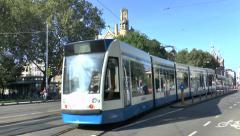Tram on Liedseplein, Amsterdam, Netherlands. Stock Footage