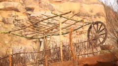 Rural area at Rajasthan India Stock Footage