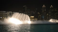 Dubai fountain music show. Stock Footage